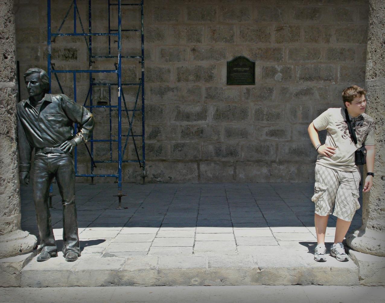 Statue & Boy