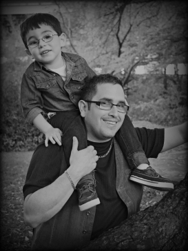 Father and Son B&W