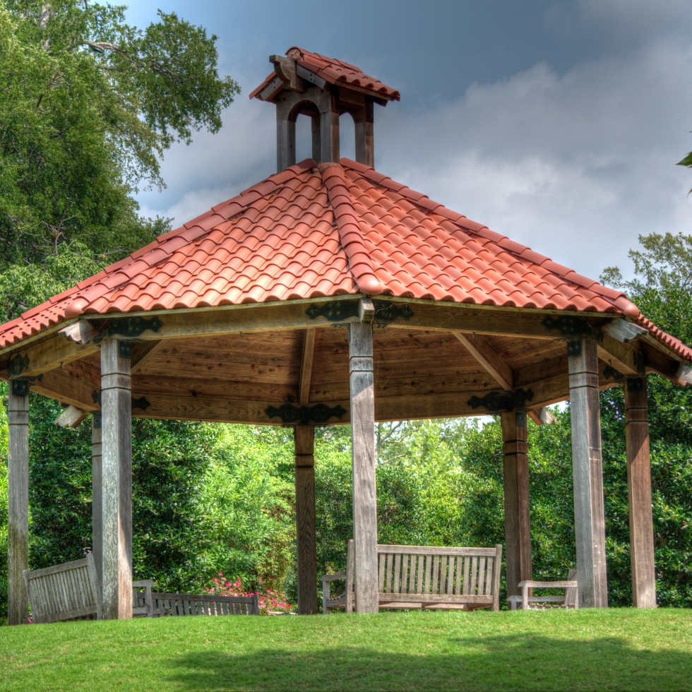 HDR image of a gazebo